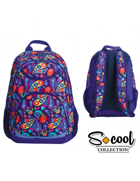 Ghiozdan Compartiment Laptop, PAISLEY, 43,5x32x15cm - S-COOL