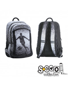 Ghiozdan Compartiment Laptop, FOOTBALL, 43x27x15cm - S-COOL