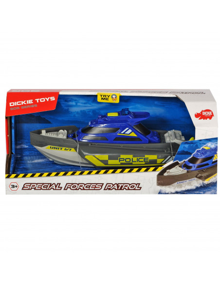 Barca Dickie Toys Police cu lumini si sunete, Special Forces
