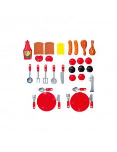 Set grill de jucarie Mochtoys, 25 accesorii