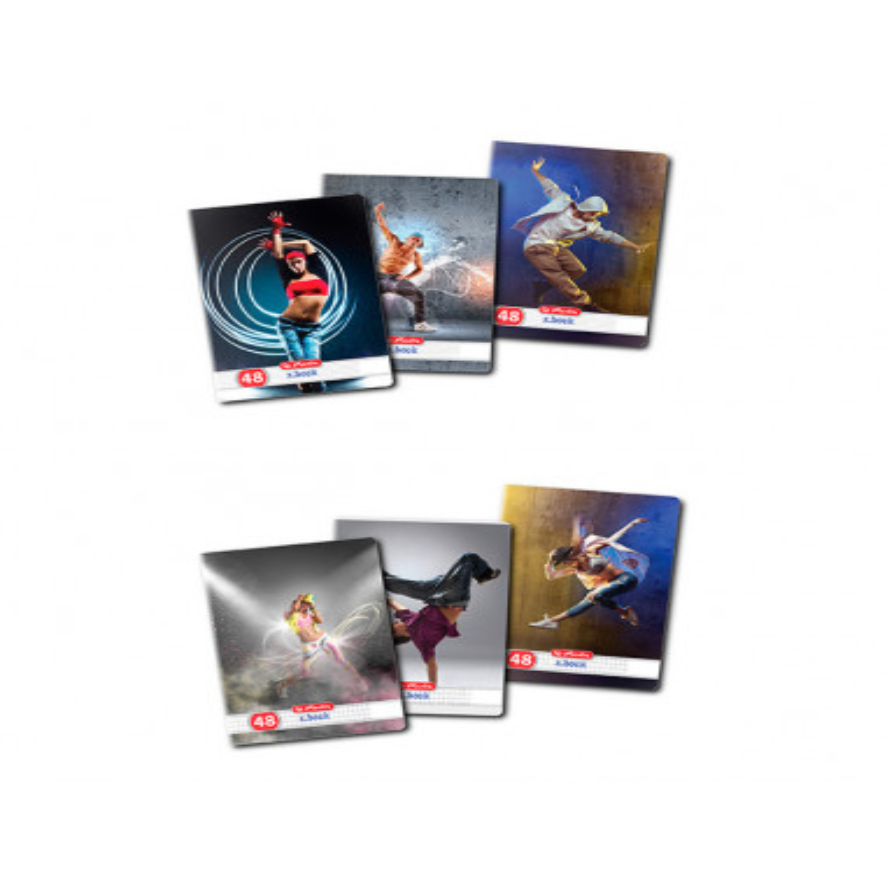Set 10 caiete Herlitz Dance A5, 48 File, 5 Dictando + 5