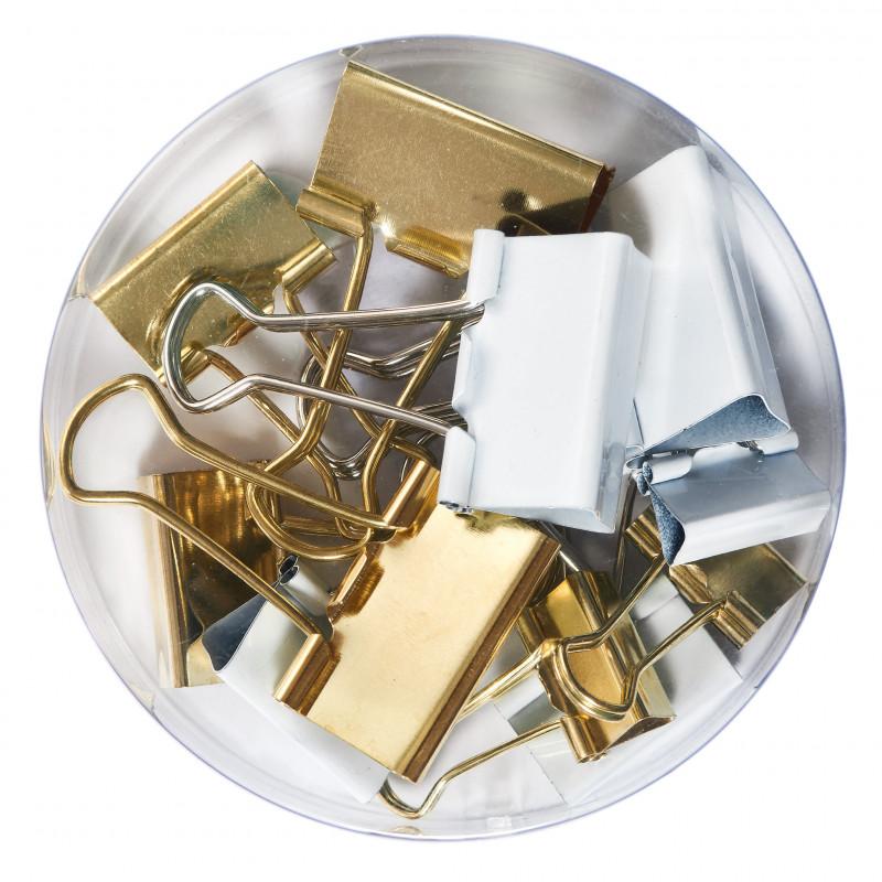 Clips Metalic Pure Glam, 3 Dimensiuni 32Mm, 25Mm Si 19Mm, Set 12