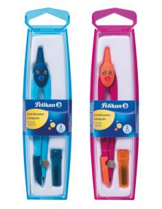 Compas Plastic Culori Asortate Pelikan