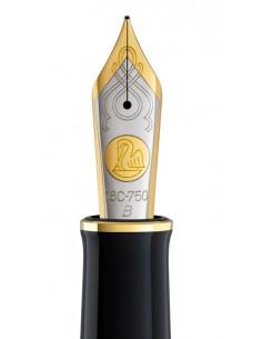 Penita B Din Aur De 18K/750 Ornament Din Rodiu Pentru Stilou M1000 Bicolora Pelikan