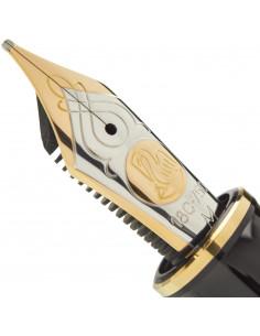 Penita M Din Aur De 18K/750 Ornament Din Rodiu Pentru Stilou M900/910 Bicolora Pelikan