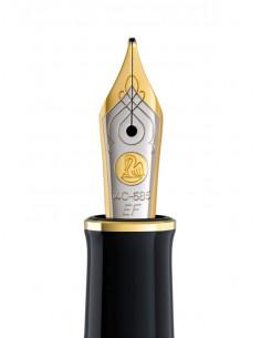 Penita Ef Din Aur De 14K/585 Ornament Din Rodiu Pentru Stilou