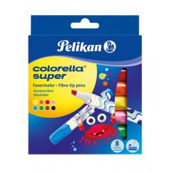 Carioca Colorella Super 411, Set 8 Culori,  Varf Tesit Pelikan