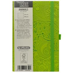 Bloc Notes Ivory Animals 9 X 14 Cm 192 Pagini Velin Coperta Pu