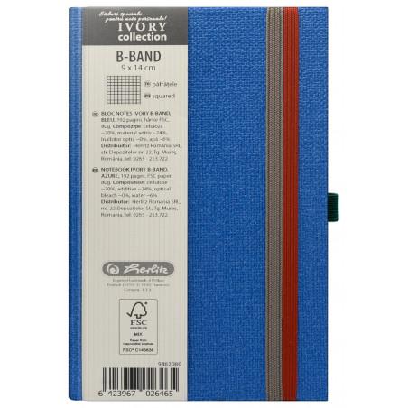 Bloc Notes Ivory B-Band 9 X 14 Cm 192 Pagini Patratele Coperta