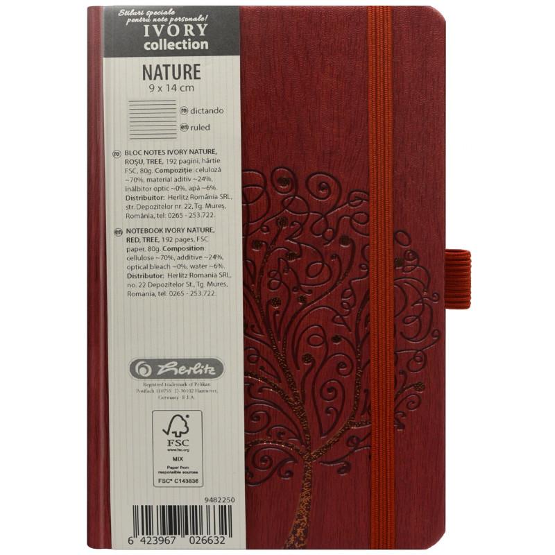 Bloc Notes Ivory Nature 9 X 14 Cm 192 Pagini Dictando Coperta