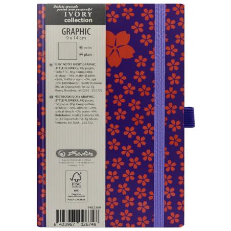 Bloc Notes Ivory Graphic 9 X 14 Cm 192 Pagini Velin Motiv