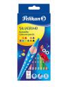 Creioane Color Silverino Lacuite, Set 12 Culori, Sectiune