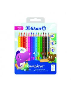 Creioane Color Combino, Set 12 Culori + 1 Creion Grafit Invata