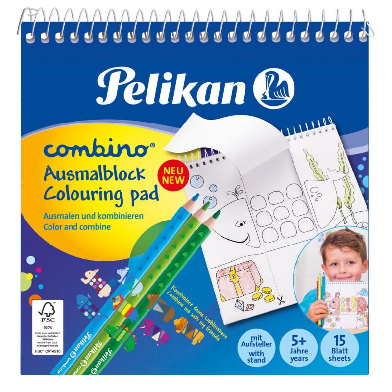 Bloc Pentru Colorat Combino 15X15Cm Cu Spira Pelikan