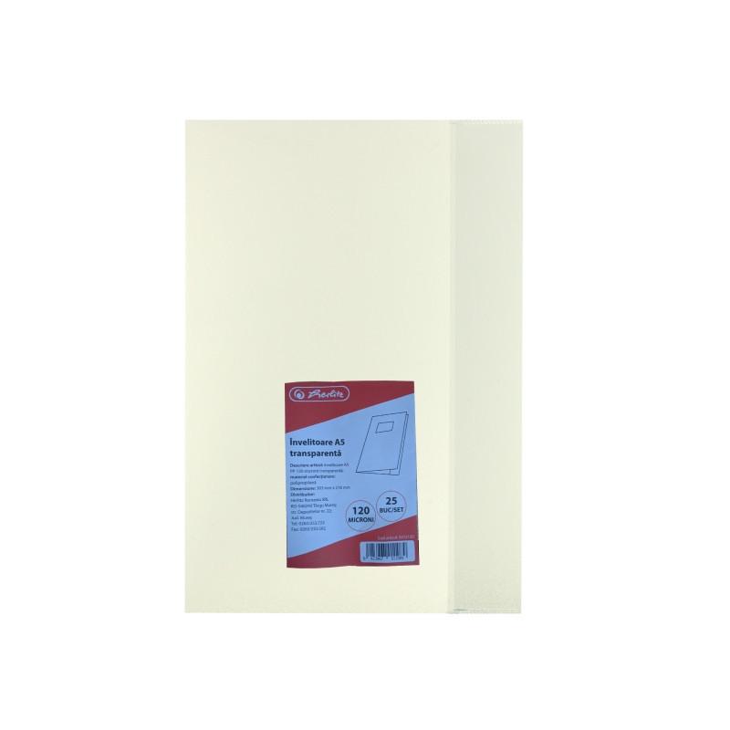 Invelitoare A5 Pp 120 Microni Transparenta Herlitz