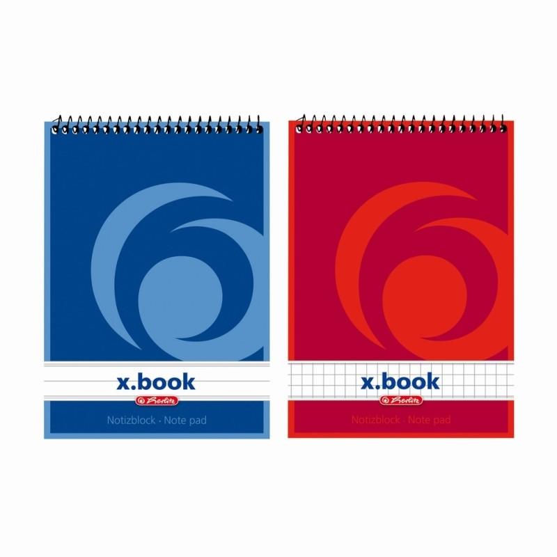 Bloc Notes A6 50F Spirala Patratele X.Book Herlitz
