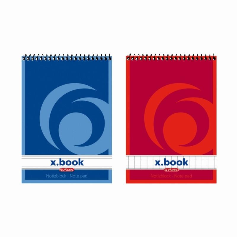 Bloc Notes A7 50F Spirala Patratele X.Book Herlitz