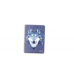 Caiet A5 100F Spirala Patratele Coperta Tare Motiv Wild Animals Wolf Herlitz