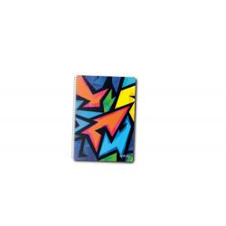 Caiet A5 100F Spirala Patratele Coperta Tare Motiv Neon Art Herlitz