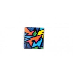 Caiet A5 100F Spirala Patratele Coperta Tare Motiv Neon Art