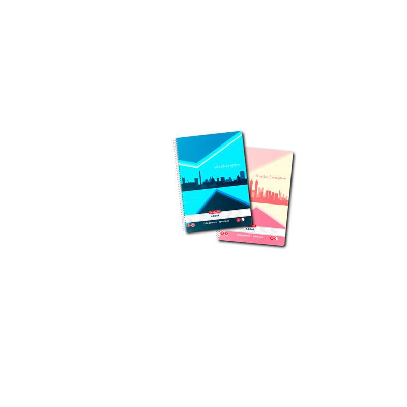 Caiet A5 70 File Cu Spirala Dictando - Economic Herlitz