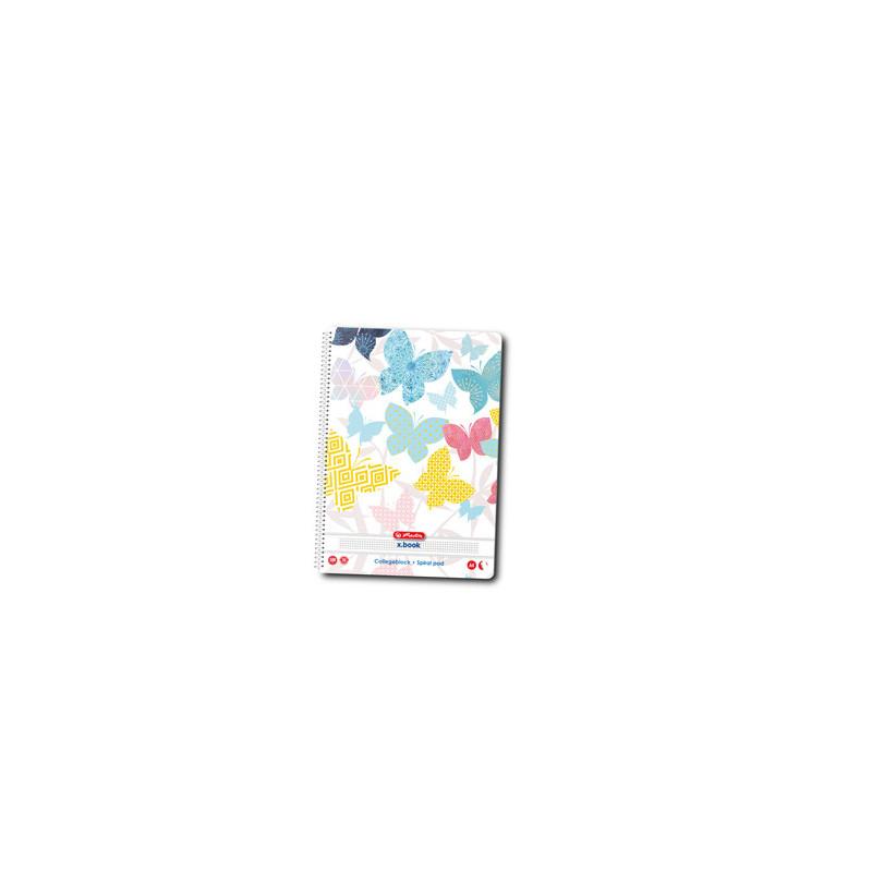 Caiet A4 100 File Cu Spirala Patratele Motiv Enjoy Life -