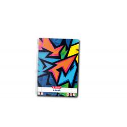 Caiet A4 80F Spirala Dictando Perforat Motiv Neon Art Herlitz