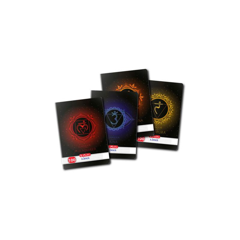 Caiet A4, 100 File, 70G/Mp, Patratele, Colturi Rotunjite, Motiv