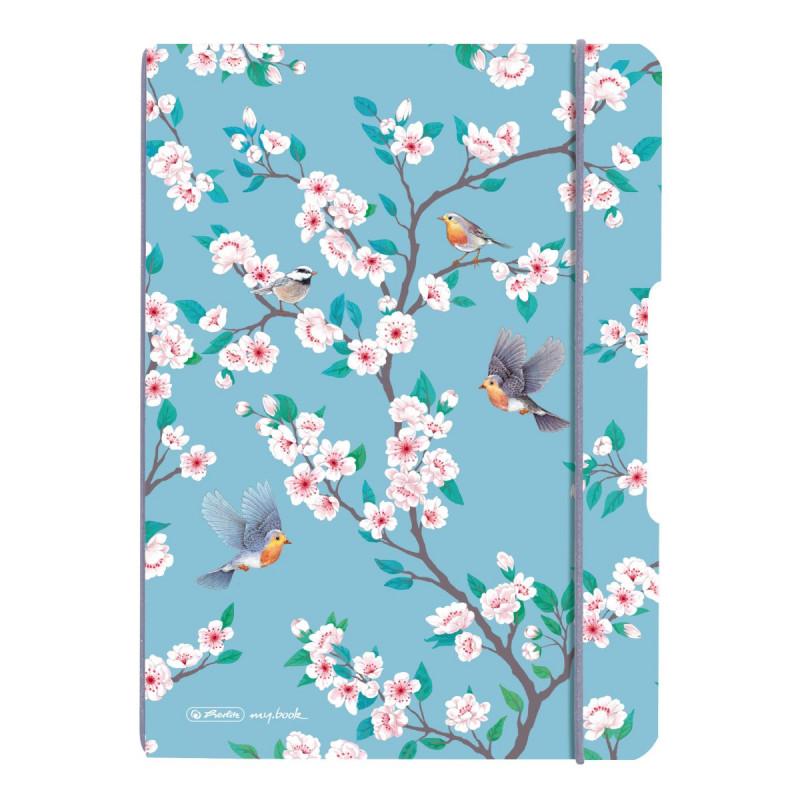 Caiet My.Book Flex A5 40F Patratele Ladylike Birds Herlitz