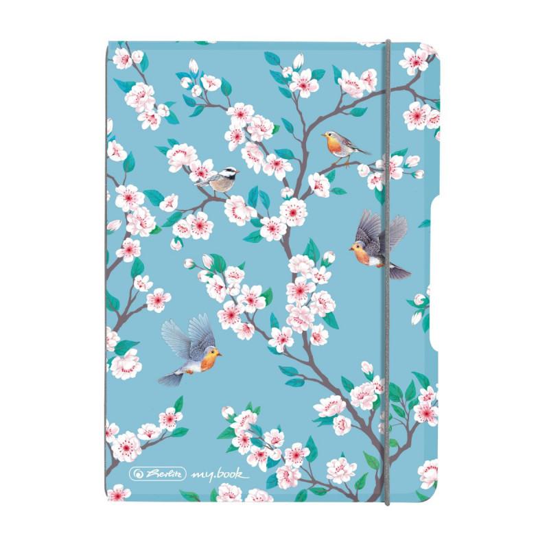 Caiet My.Book Flex A6 40F Patratele Ladylike Birds Herlitz
