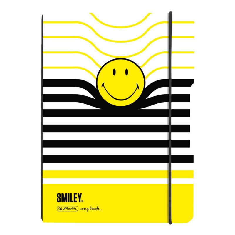 Caiet My.Book Flex A5 40F Patratele, Coperta Smiley Black