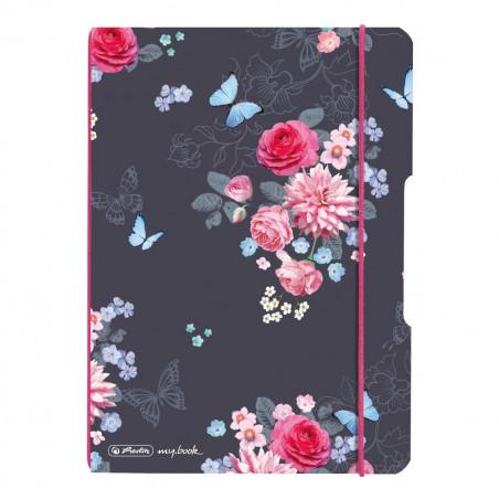 Caiet My.Book Flex A5 40F Dictando Ladylike Flowers Herlitz