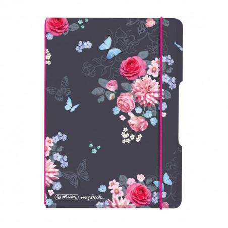 Caiet My.Book Flex A6 40F Patratele Ladylike Flowers Herlitz