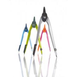 Compas Plastic Culori Asortate + Negru Herlitz