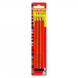 Creion Grafit Mina Hb Lacuit Set4 Herlitz