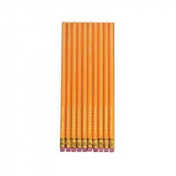 Creioane Grafit Cu Radiera Mina Hb Set 10 Herlitz