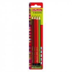 Creion Grafit Mina H, Hb, B, 2B, Set 4 Herlitz
