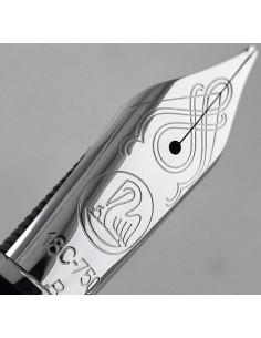 Penita B Din Aur De 18K/750 Placata Cu Rodiu Pentru Stilou M805