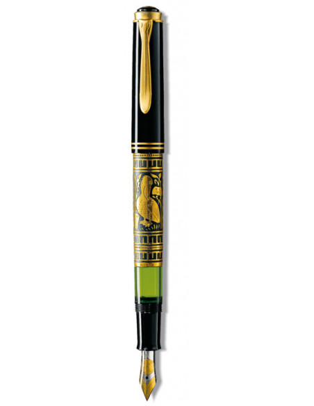 Stilou Toledo M700 B, Penita Aur 18K, Gravat Manual, Accesorii