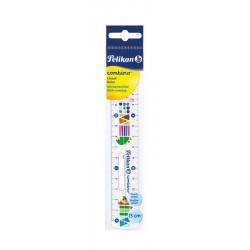 Rigla Plastic 15 Cm, Combino Pelikan