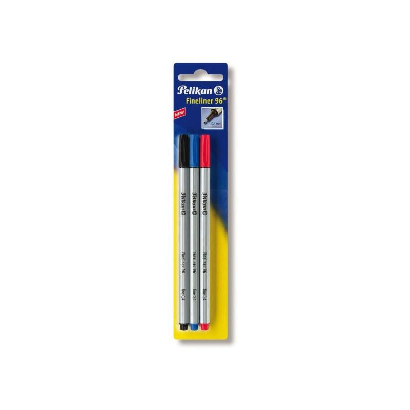 Fineliner 96 Negru/Albastru/Rosu Set3 Pelikan