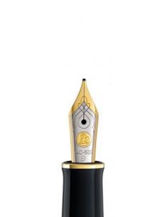 Penita B Din Aur De 18K/750 Ornament Din Rodiu Pentru Stilou M900/910 Bicolora Pelikan