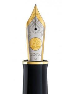 Penita M Din Aur De 18K/750 Ornament Din Rodiu Pentru Stilou