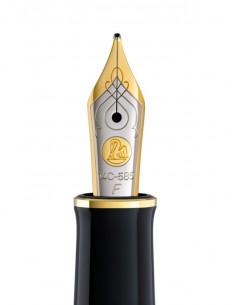 Penita F Din Aur De 14K/585 Ornament Din Rodiu Pentru Stilou