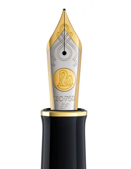 Penita Ef Din Aur De 18K/750 Ornament Din Rodiu Pentru Stilou