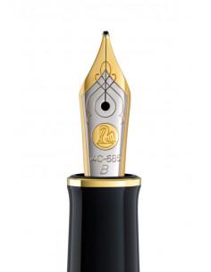 Penita B Din Aur De 14K/585 Ornament Din Rodiu Pentru Stilou M400 Bicolora Pelikan