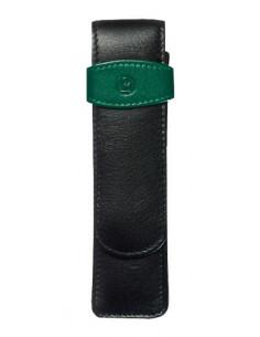 Etui De Piele Tg22 2 Instrumente, Negru/Verde Pelikan