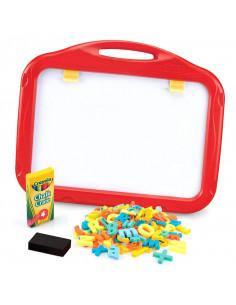 Tabla magnetica 3 in 1 Crayola, cu 2 fete, cu creta si accesorii