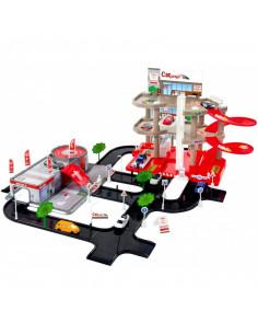 Set de joaca Mochtoys, Garaj de parcare cu trei nivele