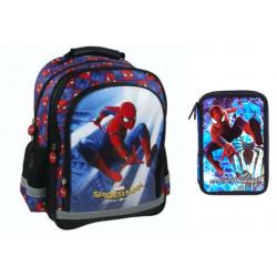 Set scoala Spiderman - Ghiozdan, penar echipat, 20 caiete herlitz A5 48 File